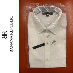 2 Banana Republic White Men's Dress Shirt